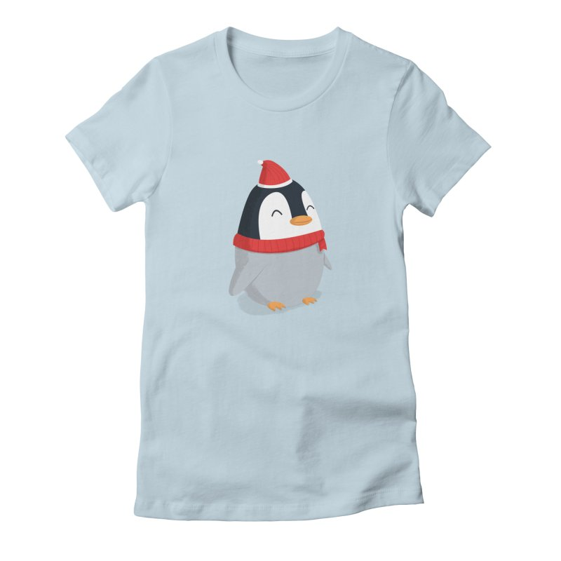 Christmas Penguin Women's T-Shirt by cartoonbeing's Artist Shop
