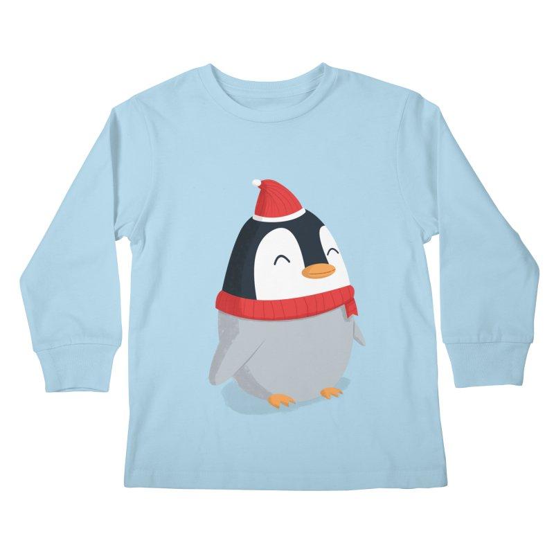 Christmas Penguin Kids Longsleeve T-Shirt by cartoonbeing's Artist Shop