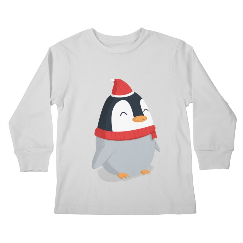 Christmas Penguin Kids Longsleeve T-Shirt by cartoonbeing's Artist Shop