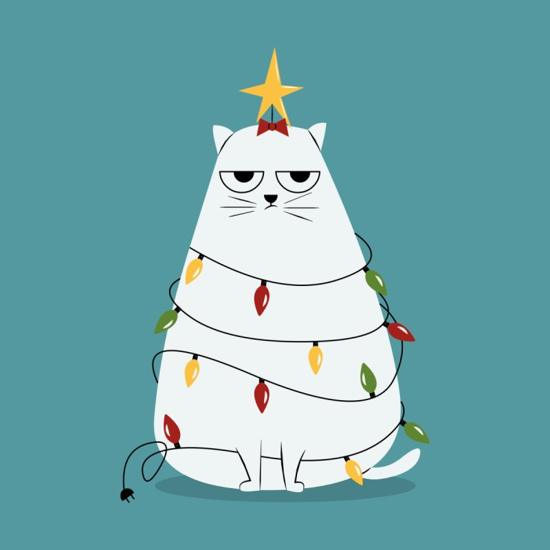 Grumpy Christmas Cat   by cartoonbeing's Artist Shop