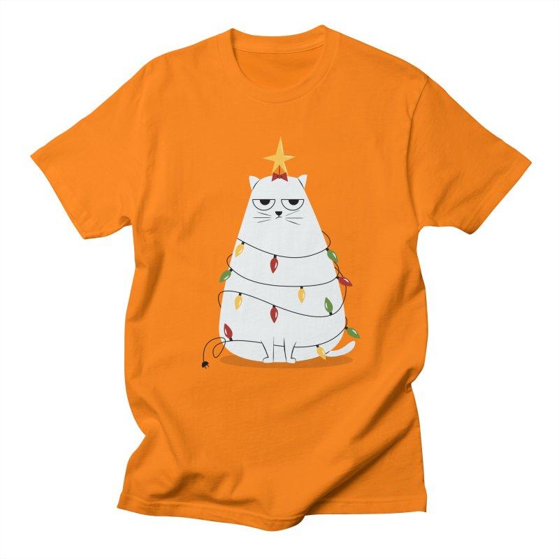 Grumpy Christmas Cat Men's T-Shirt by cartoonbeing's Artist Shop