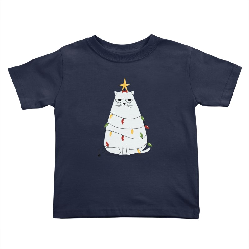Grumpy Christmas Cat Kids Toddler T-Shirt by cartoonbeing's Artist Shop