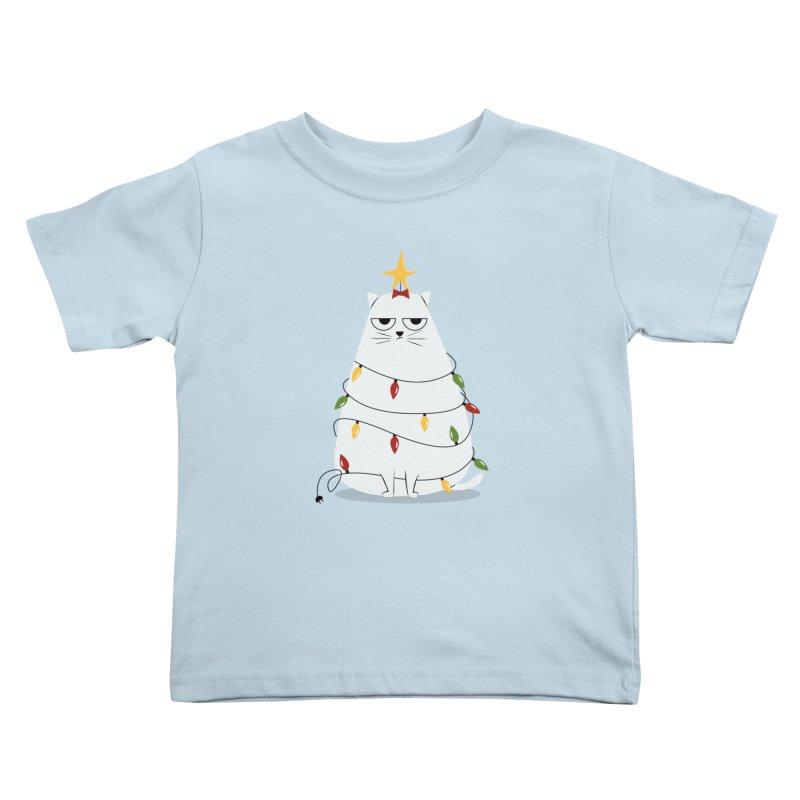 Grumpy Christmas Cat Kids Toddler T-Shirt by cartoonbeing's Artist Shop