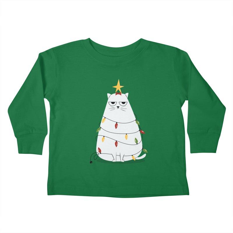 Grumpy Christmas Cat Kids Toddler Longsleeve T-Shirt by cartoonbeing's Artist Shop