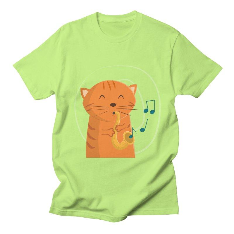 Jazz Cat Men's T-Shirt by cartoonbeing's Artist Shop