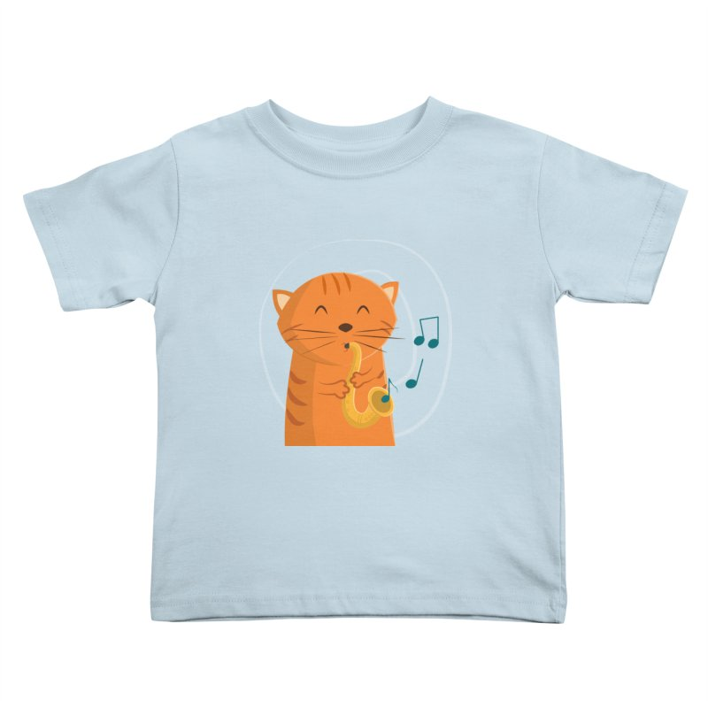 Jazz Cat Kids Toddler T-Shirt by cartoonbeing's Artist Shop