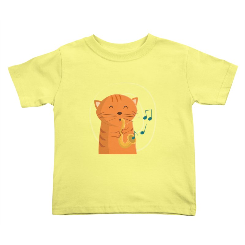 Jazz Cat Kids Toddler T-Shirt by cartoonbeing's Artist Shop