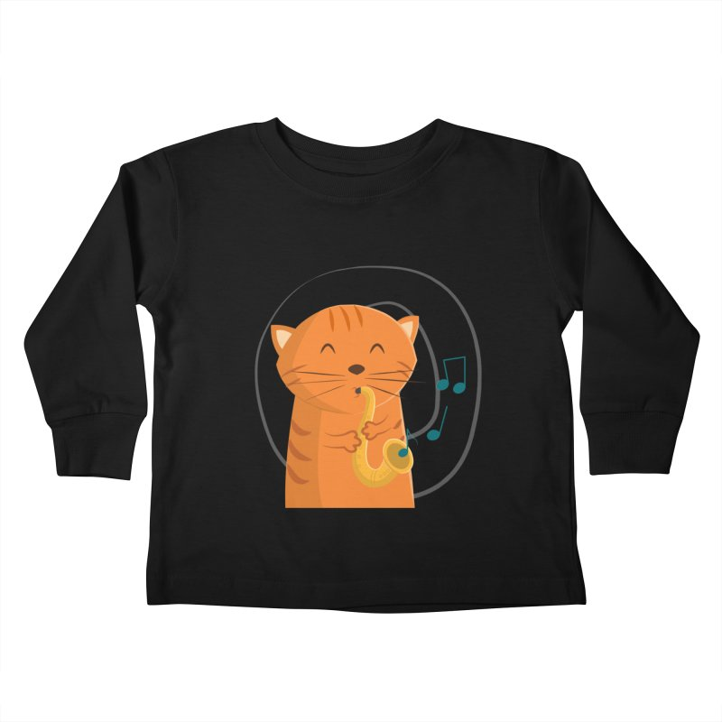 Jazz Cat Kids Toddler Longsleeve T-Shirt by cartoonbeing's Artist Shop