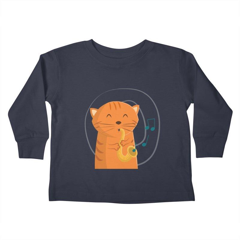 Jazz Cat Kids Toddler Longsleeve T-Shirt by cartoonbeing's Artist Shop
