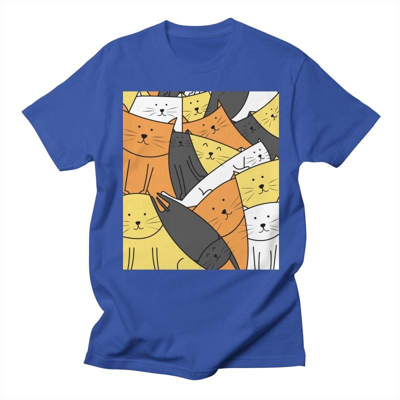 The Cats are Watching Men's Regular T-Shirt by cartoonbeing's Artist Shop