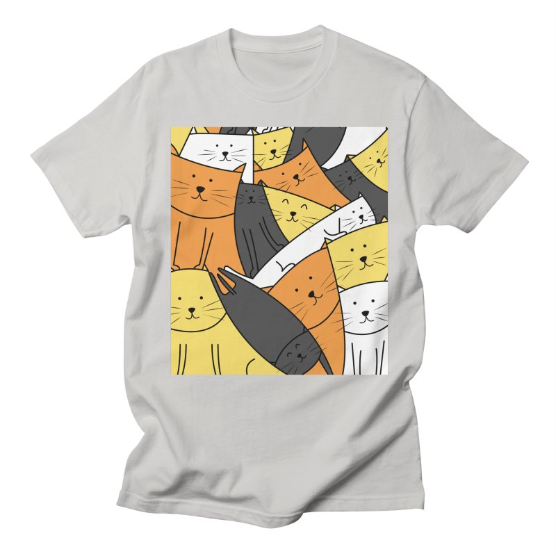 The Cats are Watching Men's T-Shirt by cartoonbeing's Artist Shop