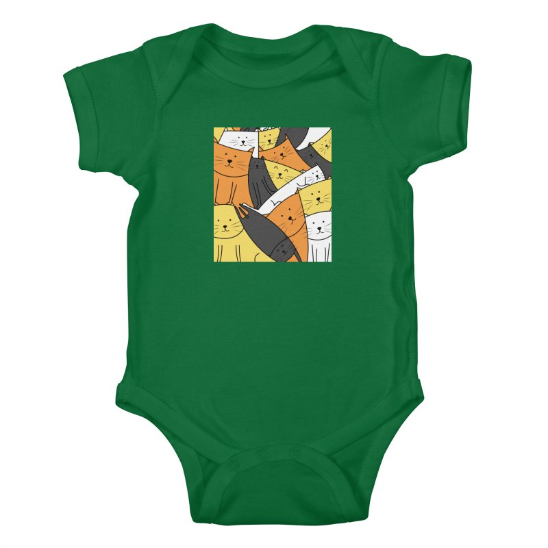 The Cats are Watching Kids Baby Bodysuit by cartoonbeing's Artist Shop