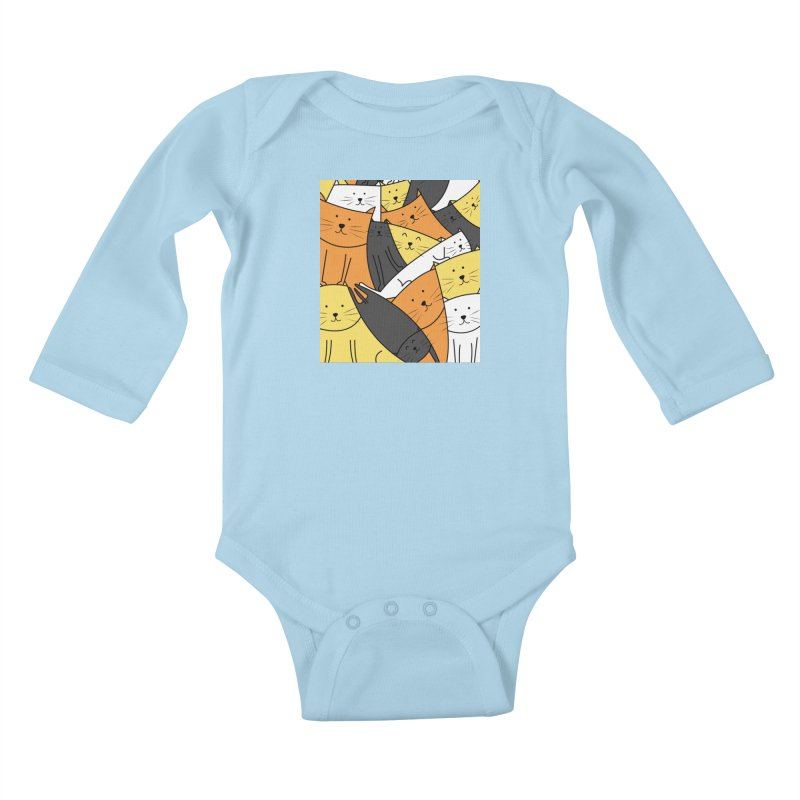 The Cats are Watching Kids Baby Longsleeve Bodysuit by cartoonbeing's Artist Shop