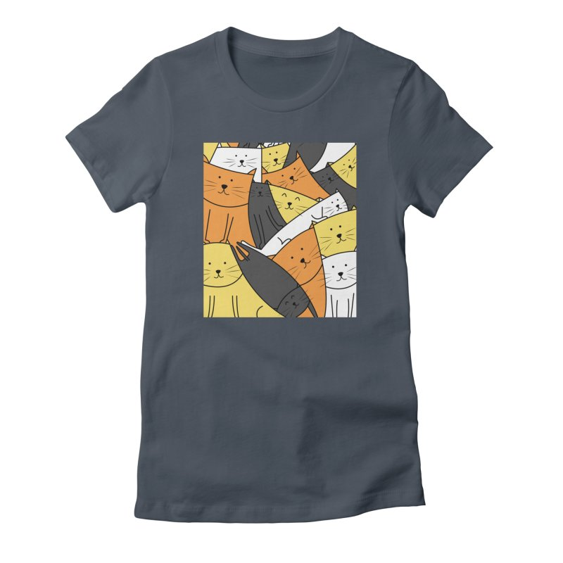 The Cats are Watching Women's T-Shirt by cartoonbeing's Artist Shop