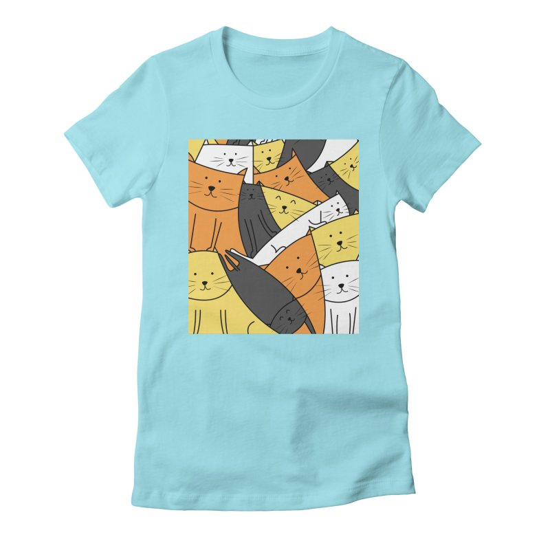 The Cats are Watching Women's Fitted T-Shirt by cartoonbeing's Artist Shop