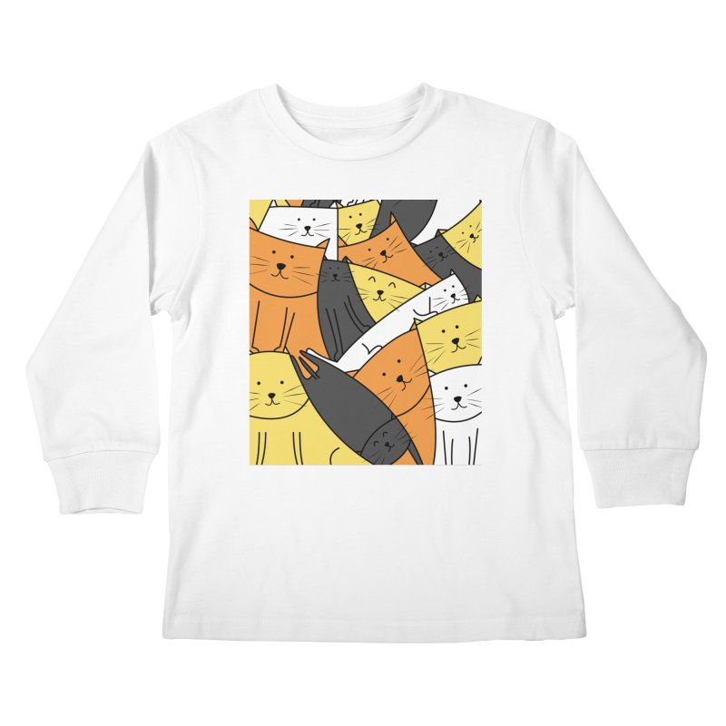 The Cats are Watching Kids Longsleeve T-Shirt by cartoonbeing's Artist Shop