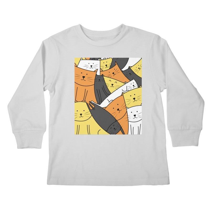 The Cats are Watching Kids Longsleeve T-Shirt by cartoonbeing's Artist Shop