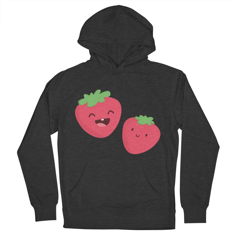 Happy Strawberries Women's French Terry Pullover Hoody by cartoonbeing's Artist Shop