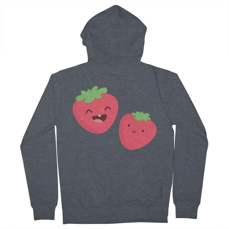 Happy Strawberries Women's Zip-Up Hoody by cartoonbeing's Artist Shop