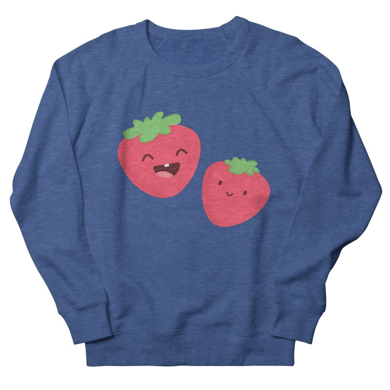 Happy Strawberries Women's French Terry Sweatshirt by cartoonbeing's Artist Shop