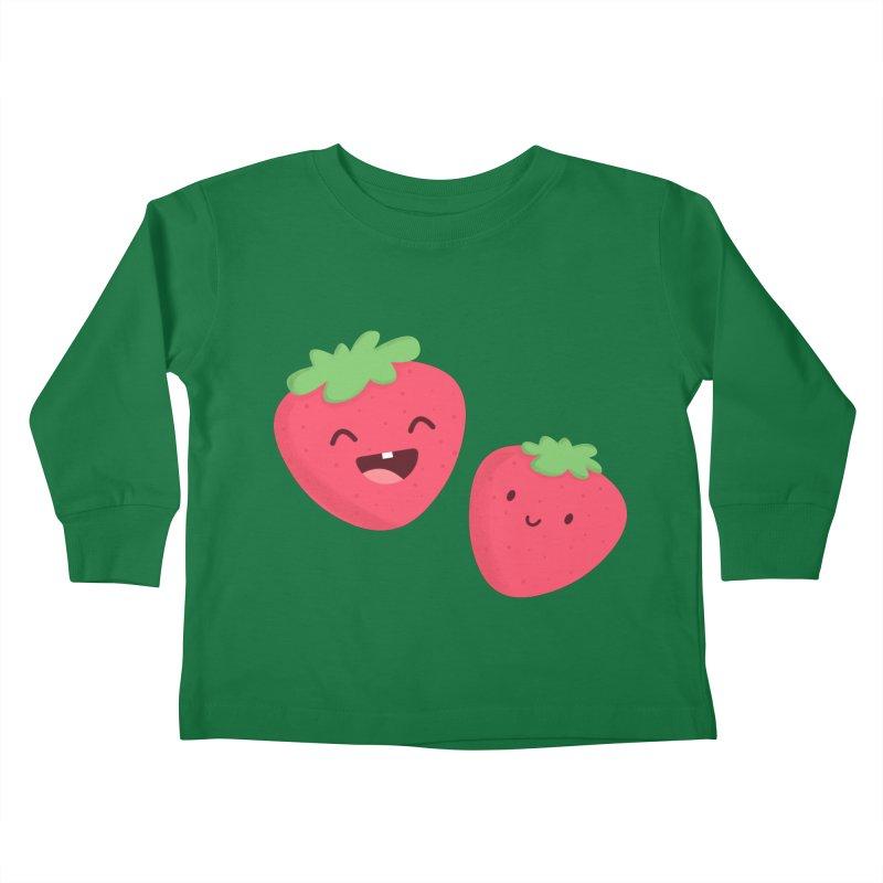 Happy Strawberries Kids Toddler Longsleeve T-Shirt by cartoonbeing's Artist Shop
