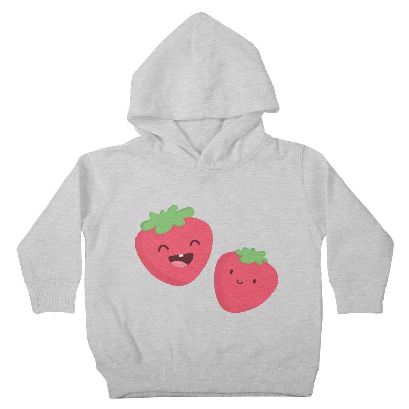 Happy Strawberries Kids Toddler Pullover Hoody by cartoonbeing's Artist Shop