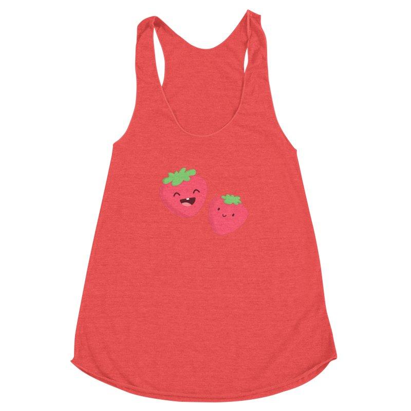 Happy Strawberries Women's Tank by cartoonbeing's Artist Shop