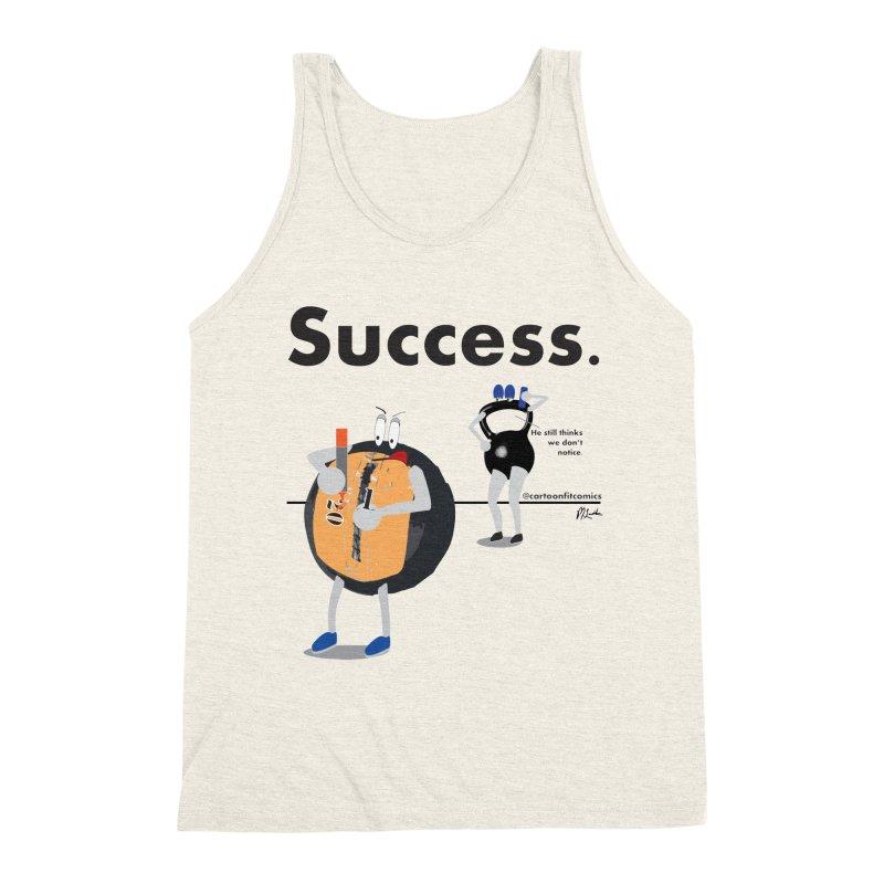Balloo - Success in Men's Triblend Tank Heather Oatmeal by CartoonFit Comics Shop