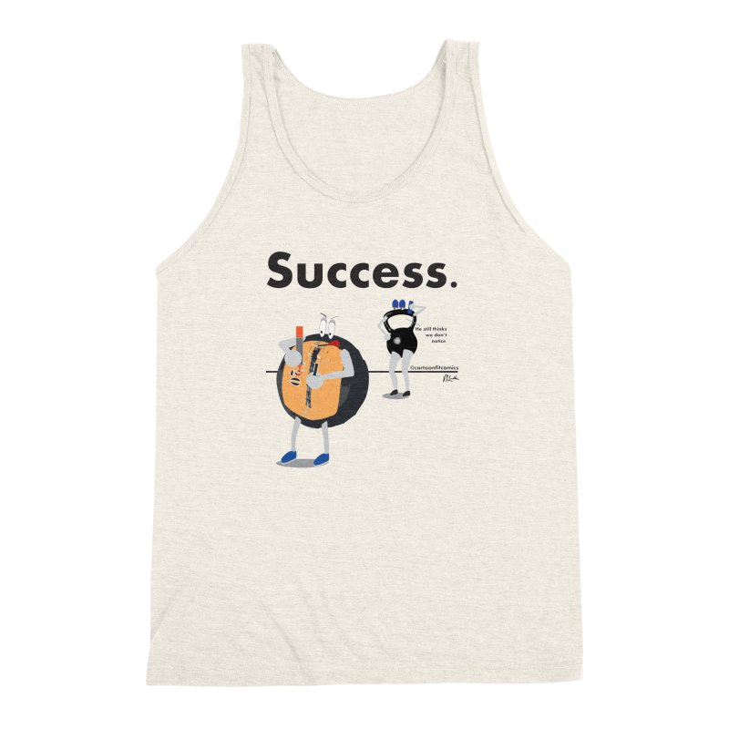 Balloo - Success in Men's Triblend Tank Heather Oatmeal by CartoonFit Comics Shop