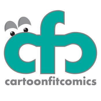 CartoonFit Comics Shop Logo