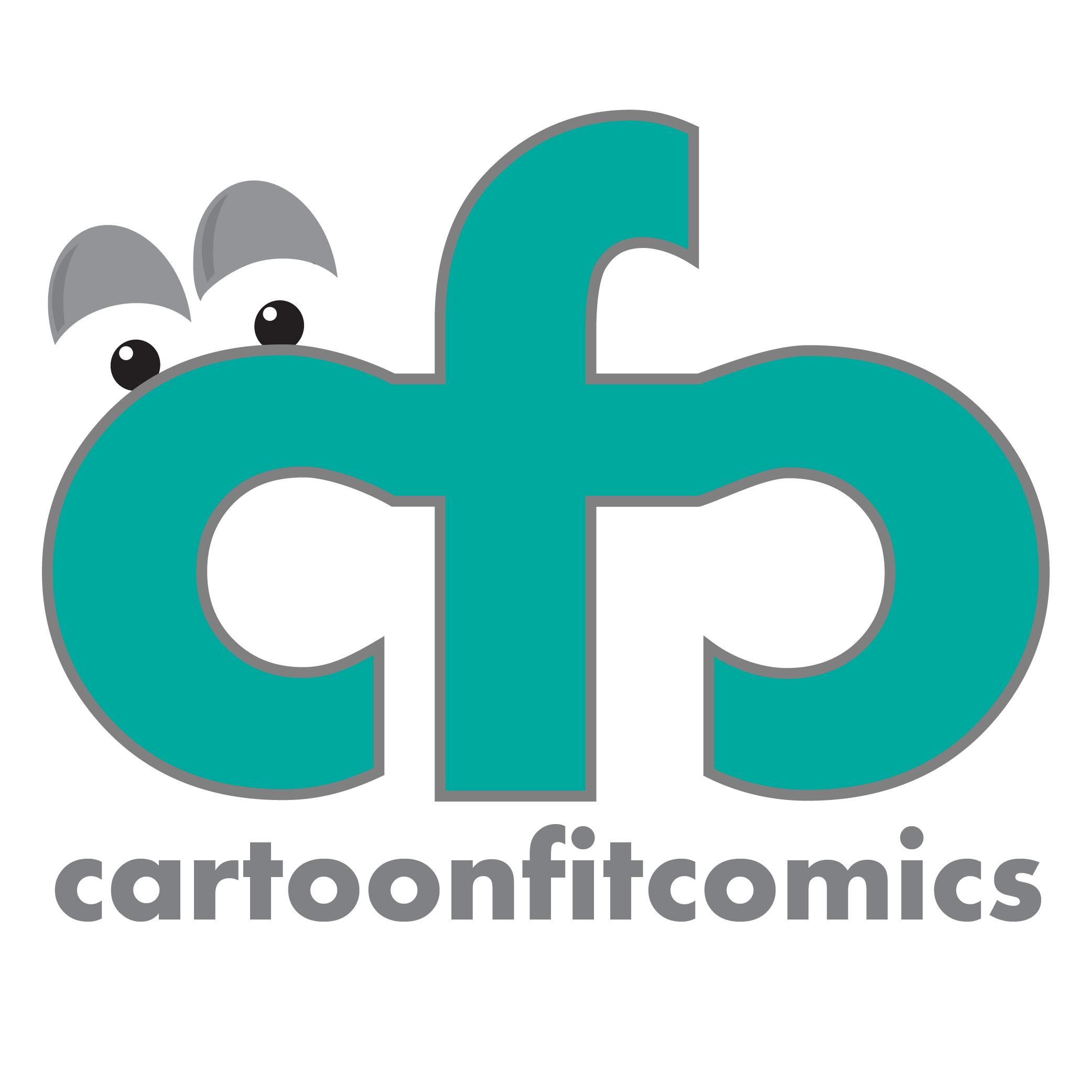 CartoonFit Comics Shop Logo
