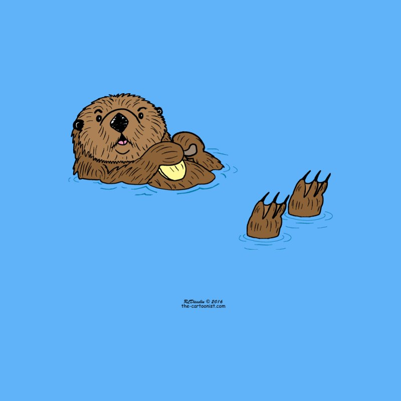 Sea Otter by The Cartoonist's Shop