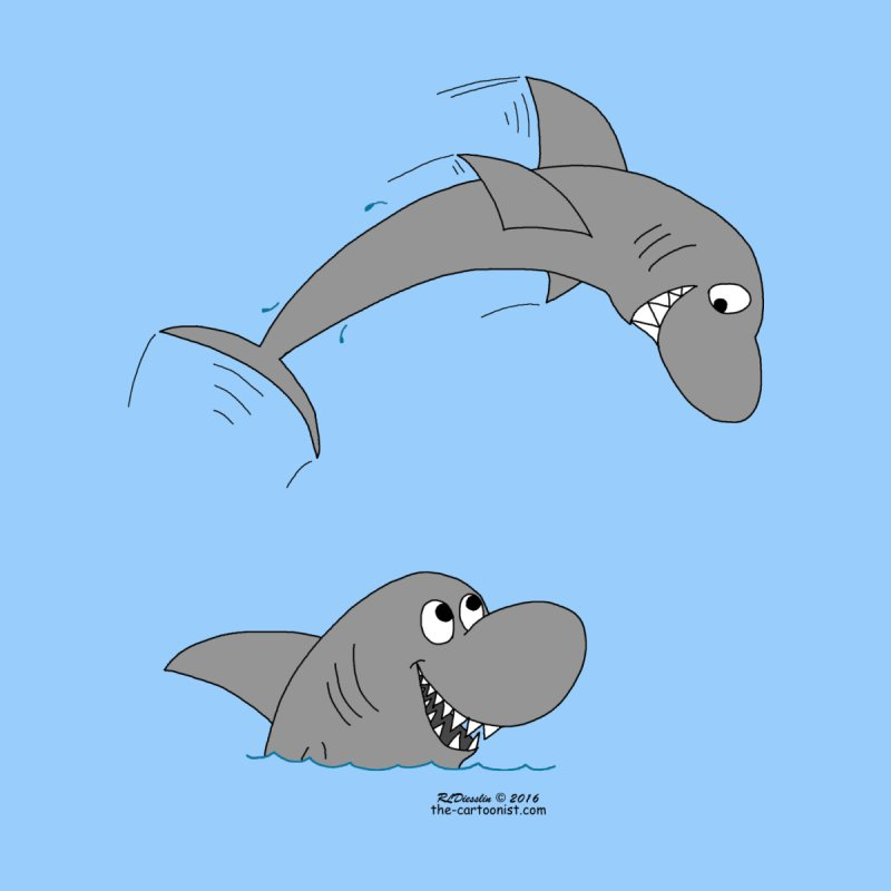Shark Jumping the Shark by The Cartoonist's Shop