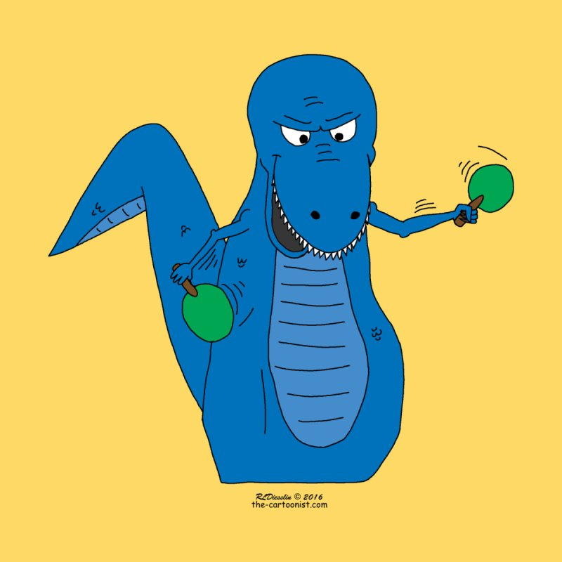 T-Rex Ping-Pong Wizard by The Cartoonist's Shop