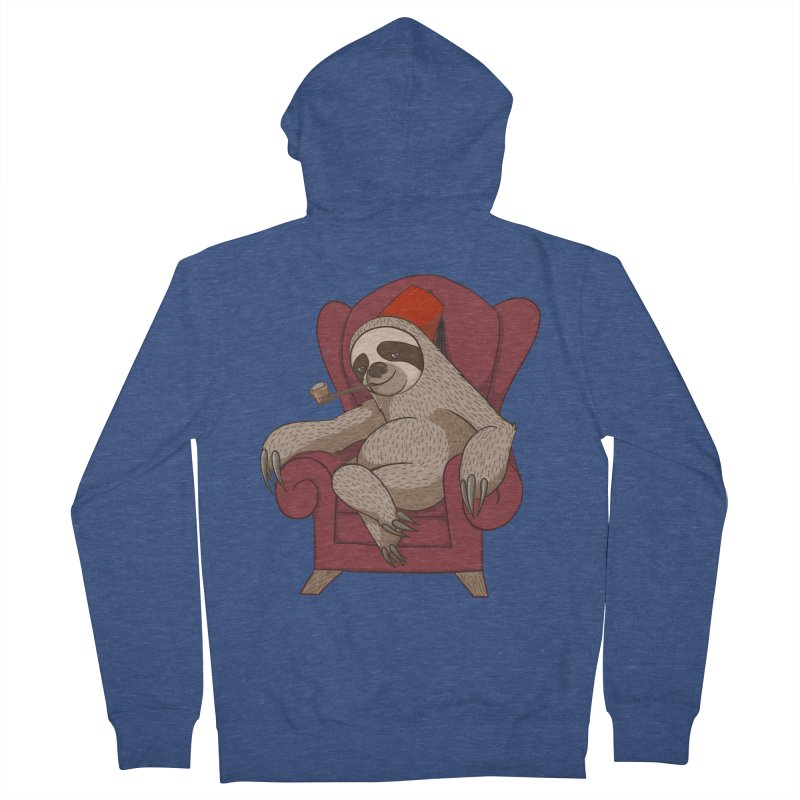 Sophisticated Sloth Women's Zip-Up Hoody by cartoonowl's Artist Shop