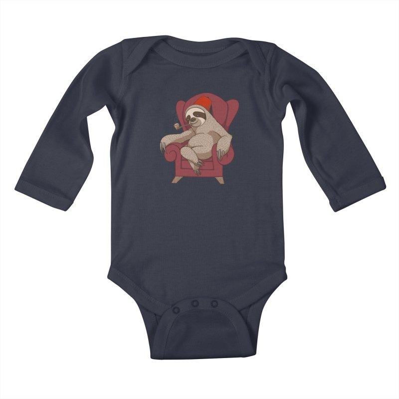 Sophisticated Sloth Kids Baby Longsleeve Bodysuit by cartoonowl's Artist Shop