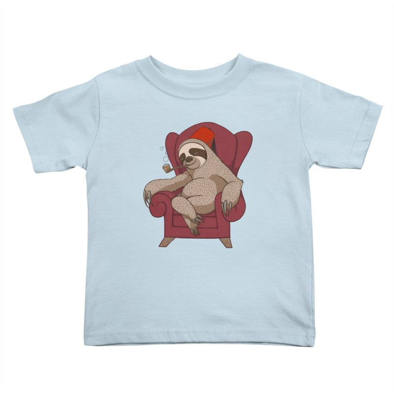 Sophisticated Sloth Kids Toddler T-Shirt by cartoonowl's Artist Shop