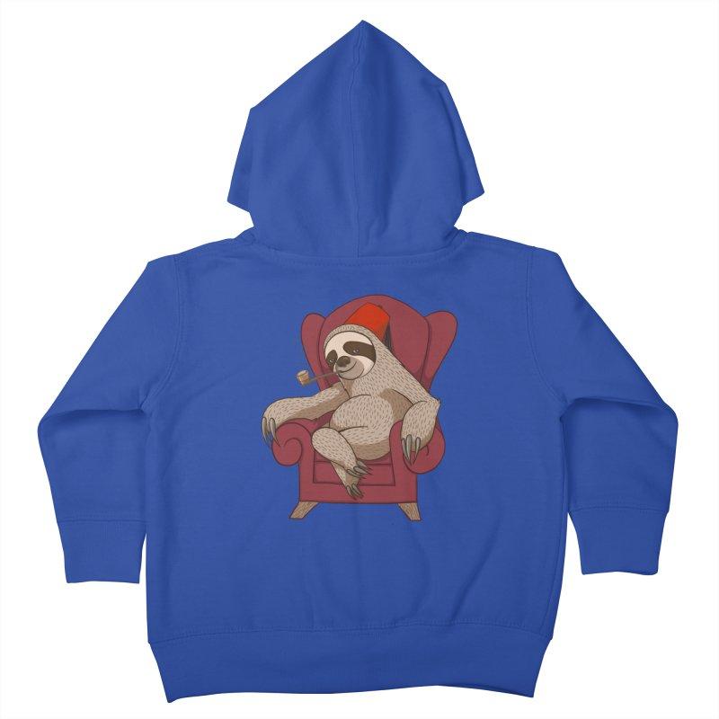 Sophisticated Sloth Kids Toddler Zip-Up Hoody by cartoonowl's Artist Shop