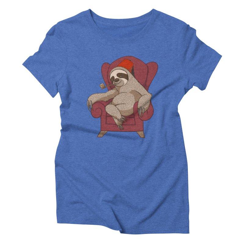 Sophisticated Sloth Women's Triblend T-shirt by cartoonowl's Artist Shop