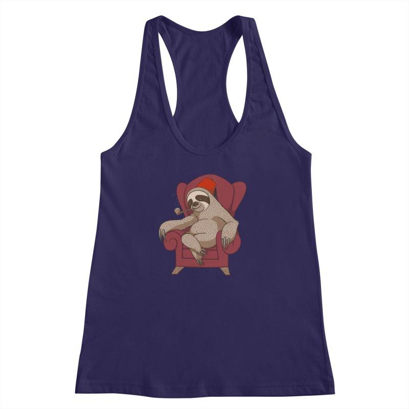Sophisticated Sloth Women's Racerback Tank by cartoonowl's Artist Shop