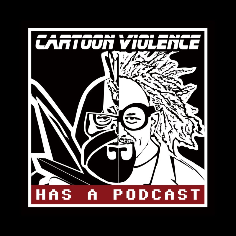 Cartoon Violence Has A Podcast Women's V-Neck by Shirts by Cartoon Violence