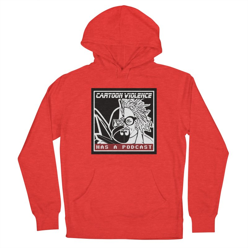 Cartoon Violence Has A Podcast Women's Pullover Hoody by Shirts by Cartoon Violence