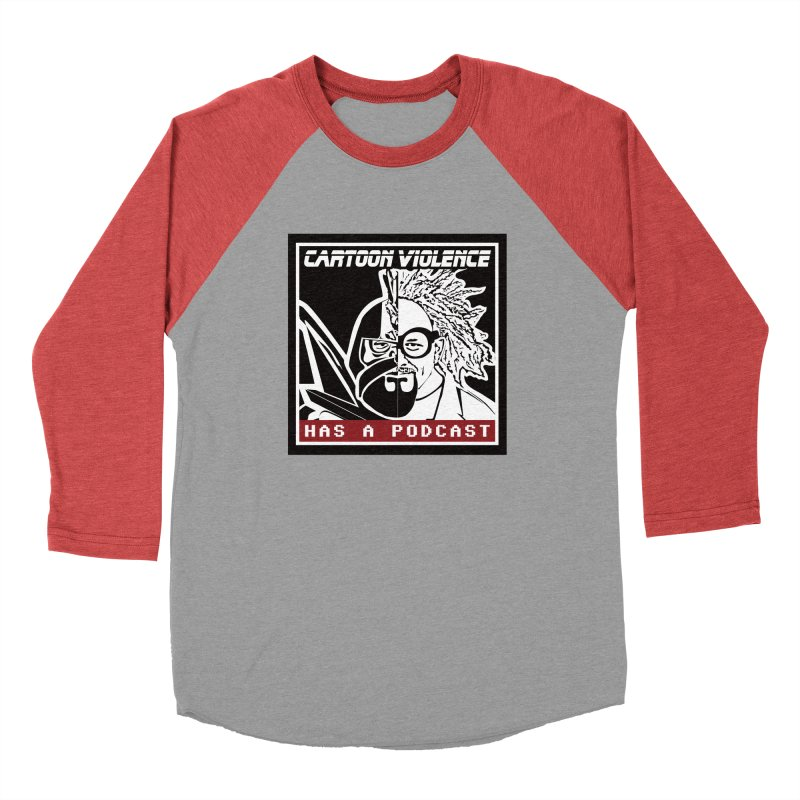 Cartoon Violence Has A Podcast Women's Longsleeve T-Shirt by Shirts by Cartoon Violence