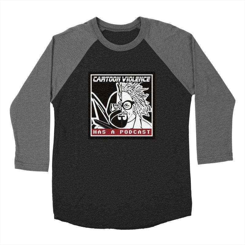Cartoon Violence Has A Podcast Men's Baseball Triblend Longsleeve T-Shirt by Shirts by Cartoon Violence