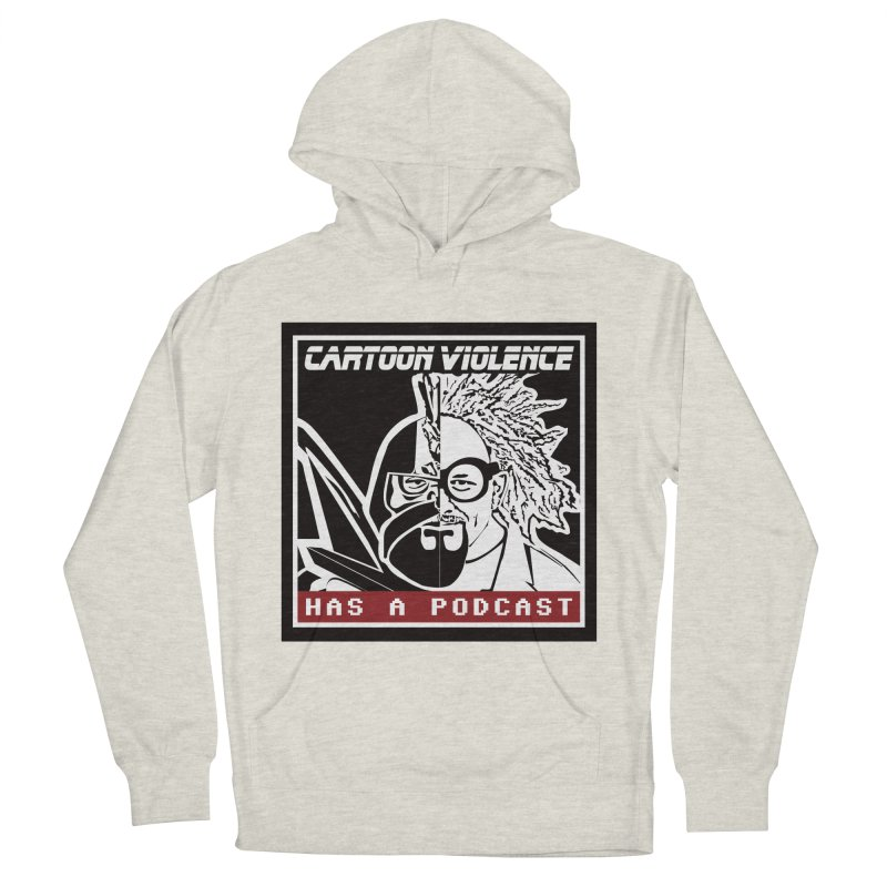 Cartoon Violence Has A Podcast Men's French Terry Pullover Hoody by Shirts by Cartoon Violence