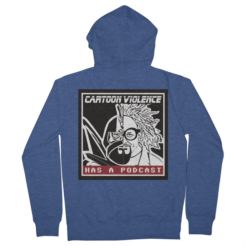 Cartoon Violence Has A Podcast Women's French Terry Zip-Up Hoody by Shirts by Cartoon Violence