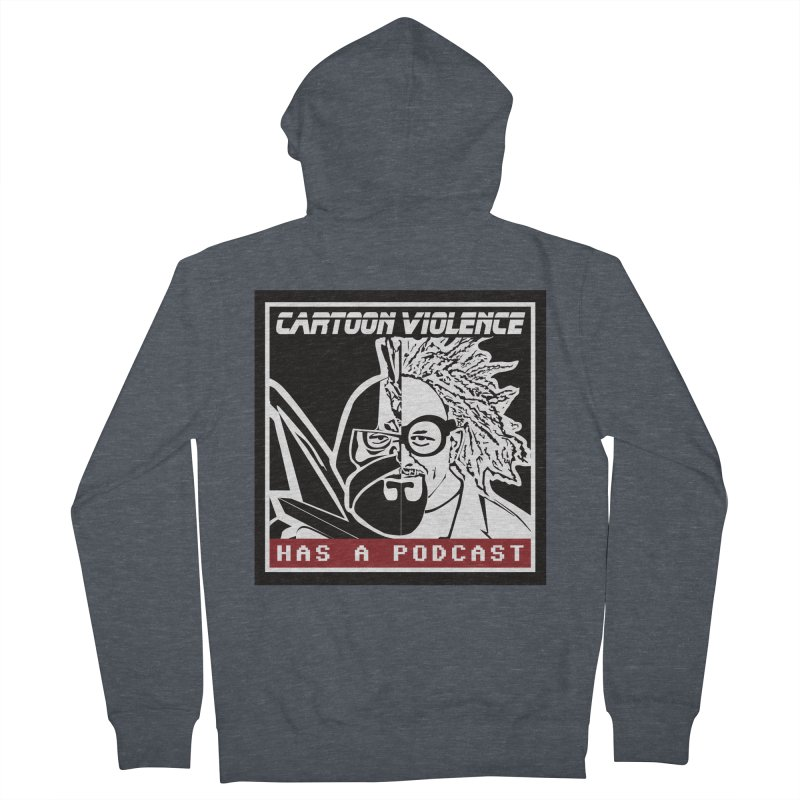 Cartoon Violence Has A Podcast Men's French Terry Zip-Up Hoody by Shirts by Cartoon Violence