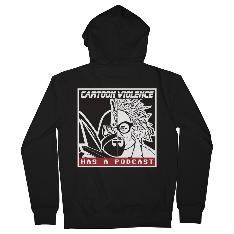 Cartoon Violence Has A Podcast Men's Zip-Up Hoody by Shirts by Cartoon Violence