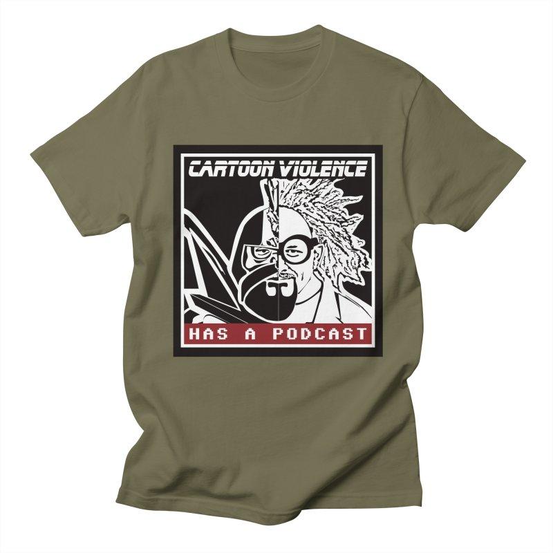 Cartoon Violence Has A Podcast Men's T-Shirt by Shirts by Cartoon Violence