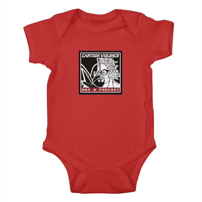 Cartoon Violence Has A Podcast Kids Baby Bodysuit by Shirts by Cartoon Violence
